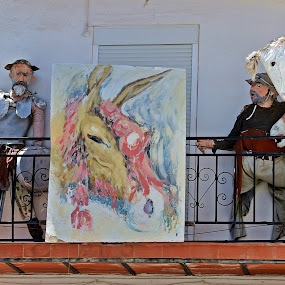 Don Quixote and Sancho Panza by Francis Xavier Camilleri - Artistic Objects Other Objects ( mijas, spain, andalusia )