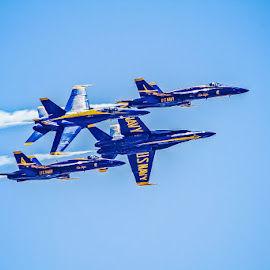 Blue Angels Daimond Break by Peggy Zinn - Transportation Airplanes ( national cherry festival, fa18, fighter jet, us navy, airshow, blue angels )