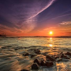 Beautiful Sunrise by Ade Irgha - Landscapes Sunsets & Sunrises ( explore bali, bali, water motions, manyar beach, sunrise )
