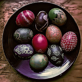 Eggs by Nancy Merolle - Public Holidays Easter ( chicken, holiday, eggs, easter, colorful, colored eggs, easter eggs,  )