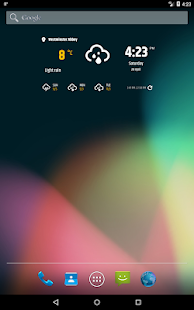 Simple weather & clock widget (No ads) Screenshot