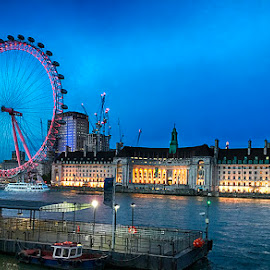 London Eye by Abdul Rehman - Instagram & Mobile iPhone ( london, uk, nightscape, long exposure, river, night photography )