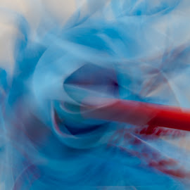 Mop Face by Lizzy MacGregor Crongeyer - Novices Only Abstract ( abstract, creative, blue, twirls, mop, swirls )