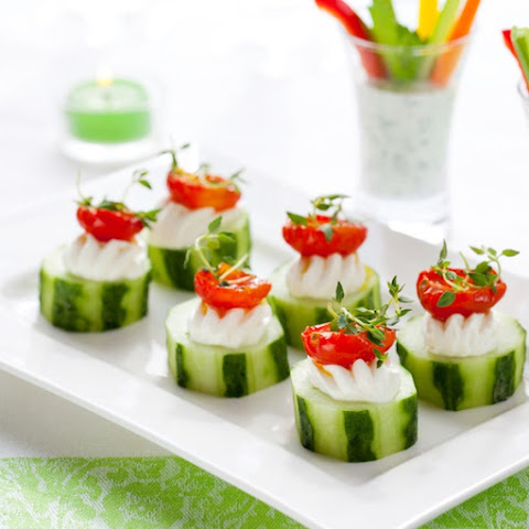 Cucumber With Herb Cream Cheese