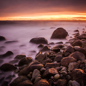 Sunset in Mølen by John Einar Sandvand - Landscapes Waterscapes