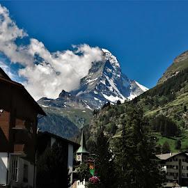 by Phil Bear - Buildings & Architecture Other Exteriors ( zermatt, mountains, alps, town, switzerland, matterhorn, village )