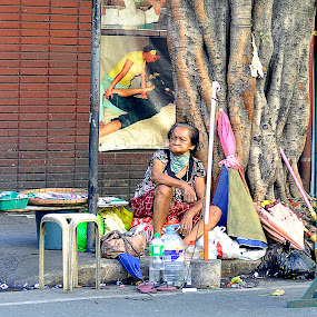 street vendors by Syam Kiki - City,  Street & Park  Street Scenes ( street, people )
