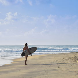 Ready To Play by Sihina Lahiru - Sports & Fitness Surfing ( sky, surf, surfer, sunrise, surfing, still life, photo, sun, sea, summer, spring, sand, sunset, silhouette, lady, photographer, photography )