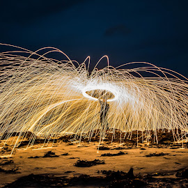 Playing with fire by Fred Øie - Abstract Fire & Fireworks ( abstract, fire )