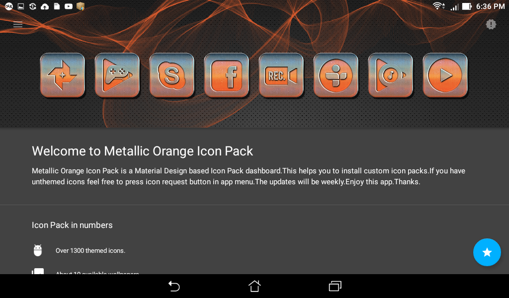 Metallic Orange Icon Pack Screenshot 7