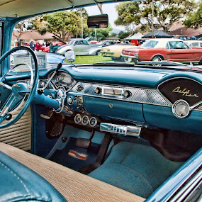 From the inside, looking out by Susan Foss - Transportation Automobiles ( car, bel air, car show, classic )