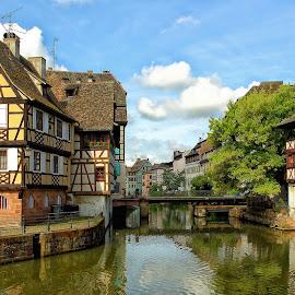 Sérénité à Strazbourg by Gérard CHATENET - City,  Street & Park  Historic Districts