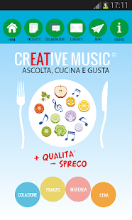 creative music food - screenshot