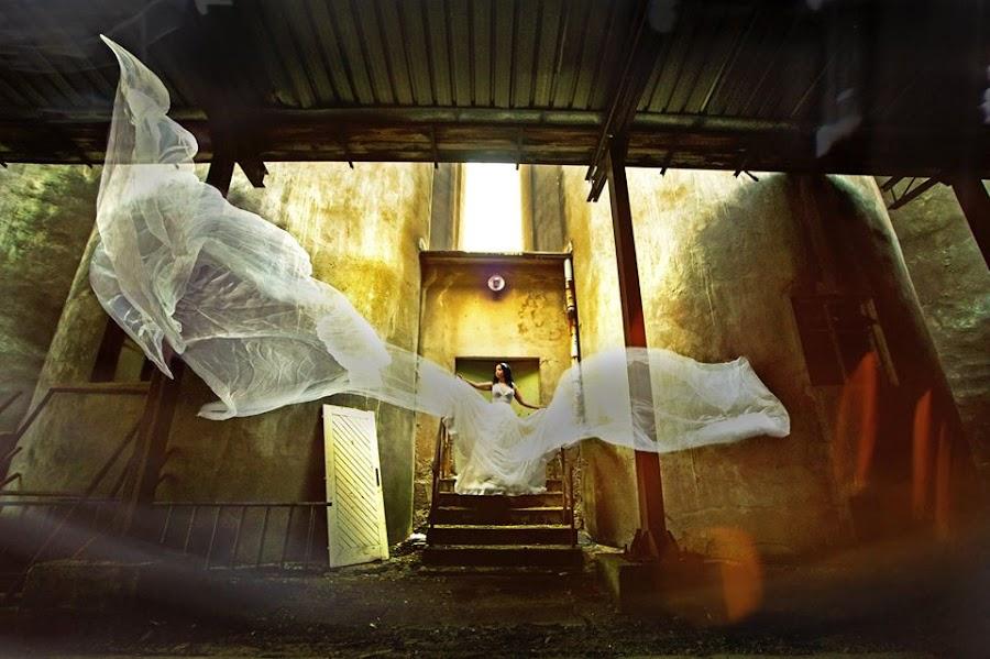 Anna  by Vlada Jovic - Wedding Bride ( bride, magic, wedding dress, veil, wedding )