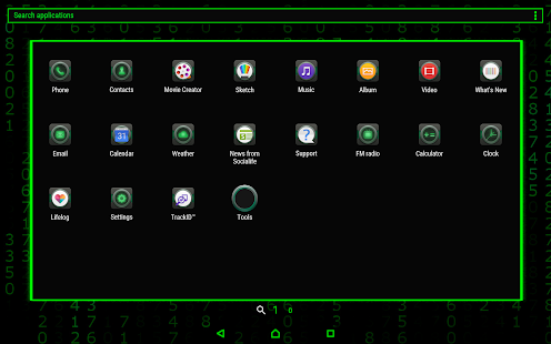 Matrix Xperia ™ Theme (Live Wallpaper) android apps download