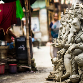 Ganesha by Jasho Sharma - Buildings & Architecture Statues & Monuments ( #statue #god #hindu #kolkata )