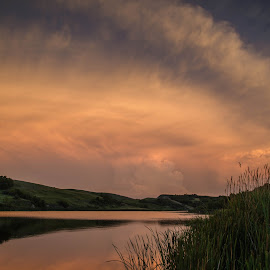 Rolling In by Laura Gardner - Novices Only Landscapes ( clouds, water, nd, storm, dusk, prairie )