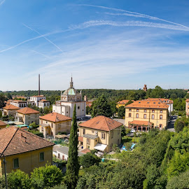 Panoramic point Villaggio Crespi by Fabio Latorre - City,  Street & Park  Vistas ( village, villaggio crespi, view, italy, panoramic )