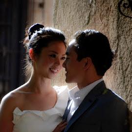 by Doug Armstrong - Wedding Bride & Groom