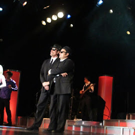 The Blues Brothers impersonators by Maricor Bayotas-Brizzi - People Musicians & Entertainers