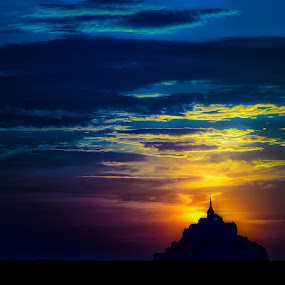 Le Mont Saint-Michel by Teus Renes - Landscapes Sunsets & Sunrises ( le mont saint-michel, bretagne, mont saint san michel, france )