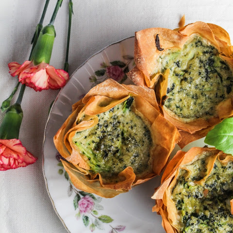 Zucchini-Pesto Mini Quiches in Phyllo Cups