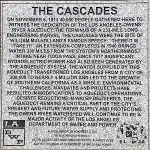 On November 5, 1913, 40,000 people gathered here to witness the dedication of the Los Angeles - Owens River Aqueduct. The terminus of a 233-mile long engineering marvel, the Cascades were the site of ...