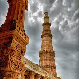 Qutub  by Akshay K - Buildings & Architecture Statues & Monuments ( qutub, minar, mehrauli, india, delhi )
