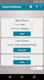 Simple MathDoku - screenshot