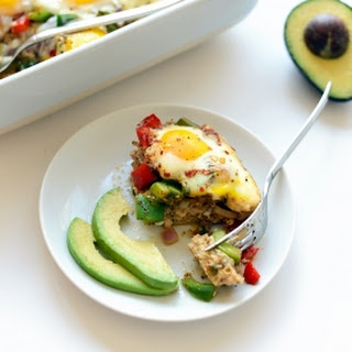 Chicken Fajita Breakfast Bake