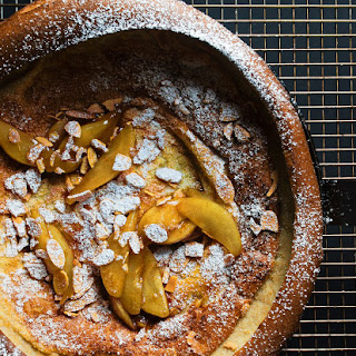 Dutch Baby Pancake with Caramelized Pears and Toasted Almonds
