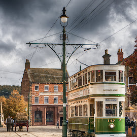 Beamish Tram by Adam Lang - Transportation Other ( durham, beamish, tram, tracks, road )