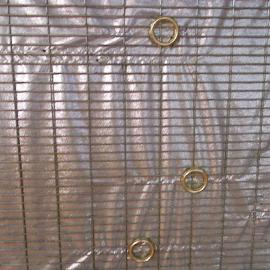 Silver Tarp by Kaye Petersen - Abstract Patterns ( pattern, tarp, silver, grommets,  )
