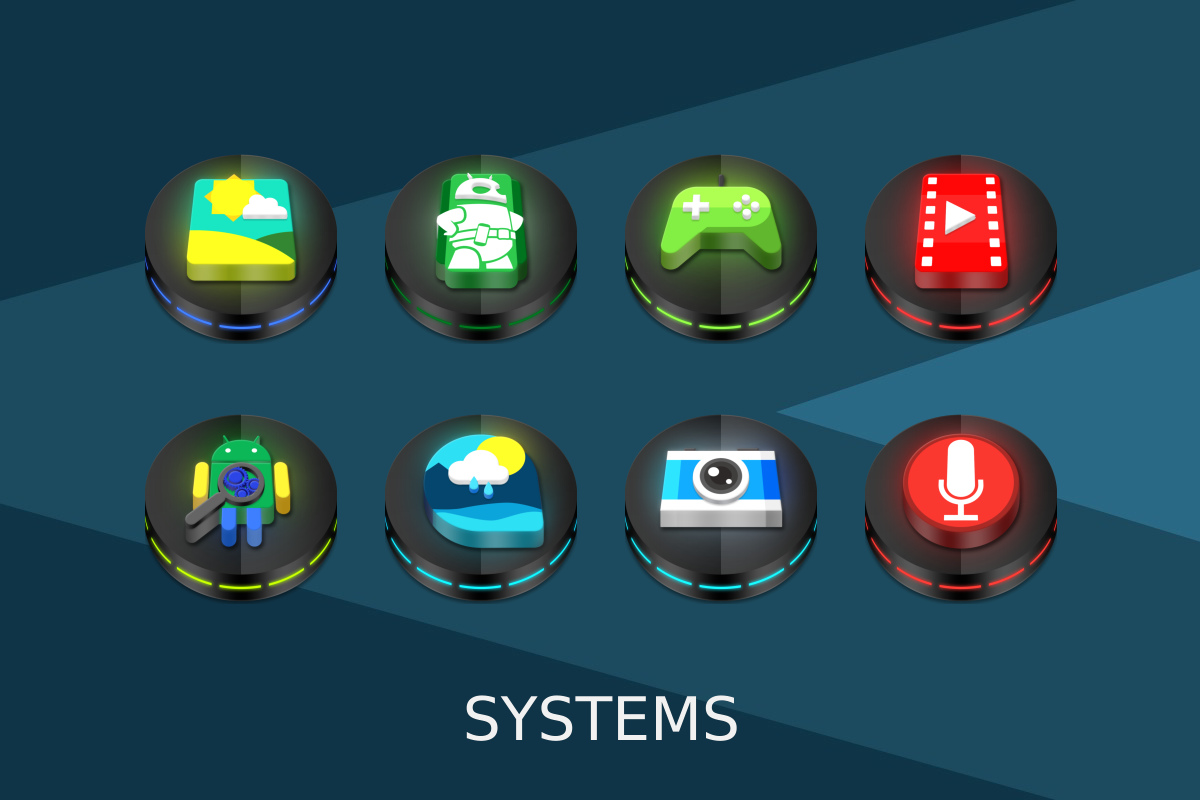Neon 3D icon Pack Screenshot 11