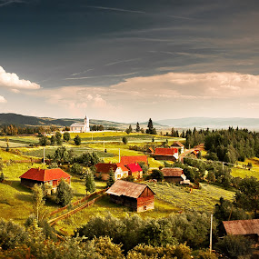 Livezi Ciuc by Eduard Moise - Travel Locations Railway ( village, nature, dreamscape, traditional, landscape )