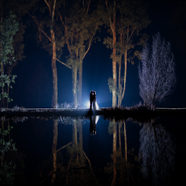 Oxbow Nights by Lood Goosen (LWG Photo) - Wedding Bride & Groom ( bride, love, wedding dress, lovely, groom, wedding photographer, wedding photography, bride groom, weddings, wedding day, wedding photographers, night shoot, bride and groom, wedding )