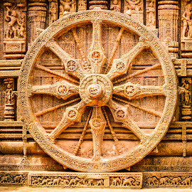 Carved wheel at Sun Temple, Konark by Shiva Ranjita - Buildings & Architecture Public & Historical ( temple, wheel, konark, architecture, sun,  )