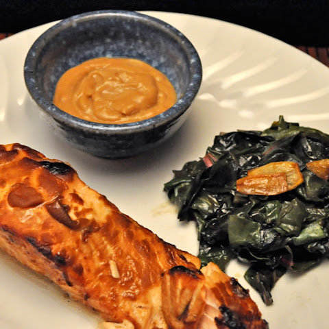 Grilled Salmon with Miso Sherry Sauce