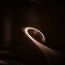 Coffee Galaxy by Joshua Clifford - Abstract Macro ( sigma, macro, art, simplistic, mood, centered, center, smoke, spiral, whisp, artistic, simple, abstract, brown, fineart, nikon, calm, swirl, closeup, moody, dark, indoors, galaxy, 105mm,  )