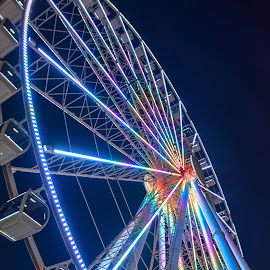 Ferris Wheel by Deborah Lucia - Digital Art Things ( nighttime, round, ferris wheel, circular, lights, colors, park )