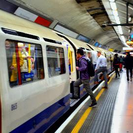 London tube by Nic Scott - Transportation Trains ( london, tube, underground, city )