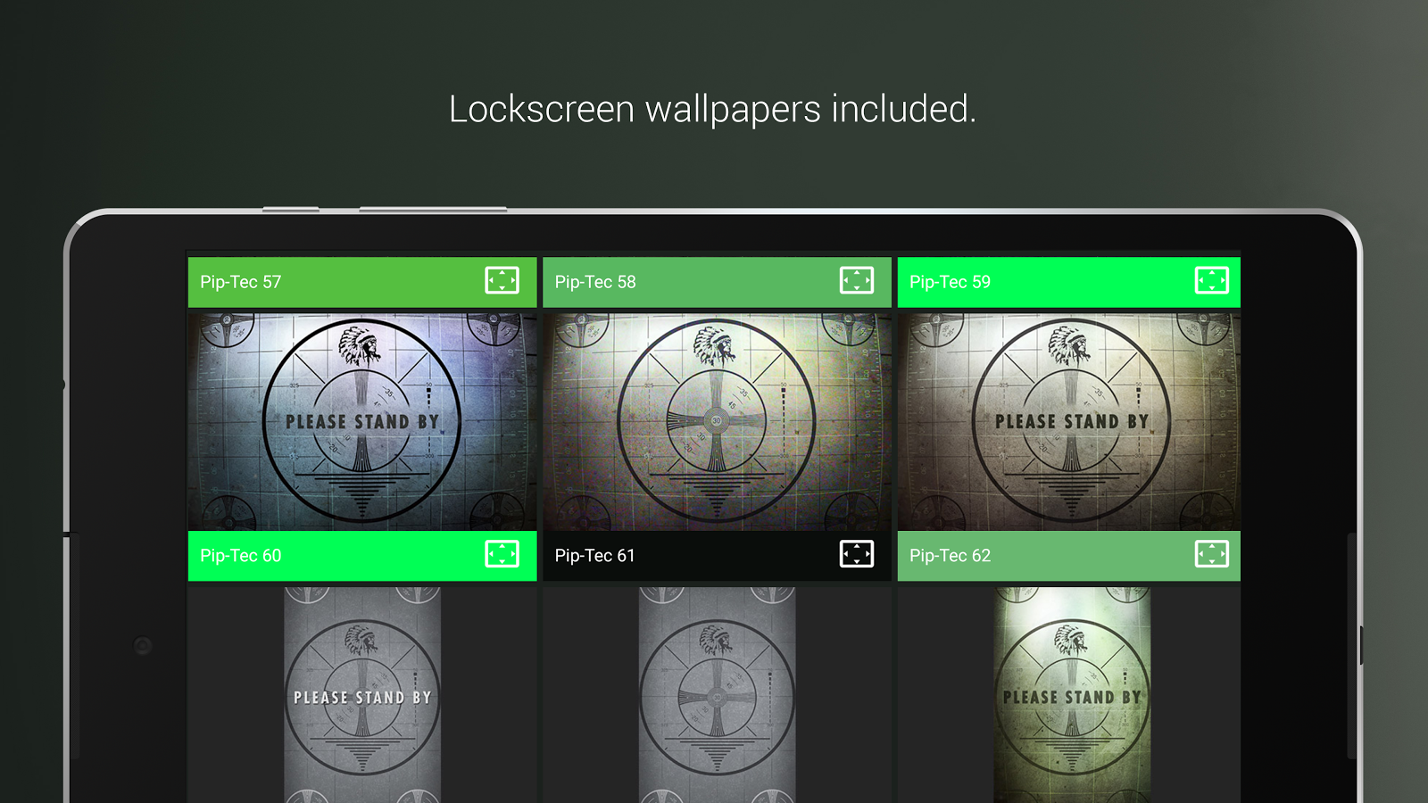 PipTec Green Icons & Live Wall Screenshot 16