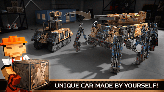 Blocky Cars Online fun shooter APK for Bluestacks