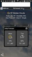 Screenshot of NBC 12 First Warning Weather