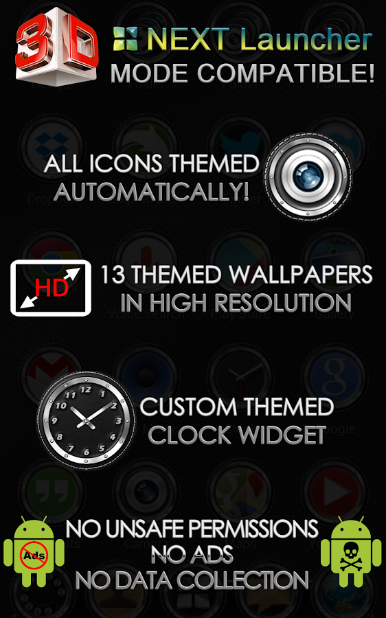 Next Launcher 3D Theme Bespoke Screenshot 9