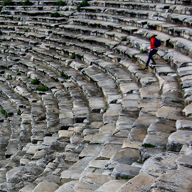 ancient theater by Celal Erdem - Buildings & Architecture Public & Historical ( ancient, theater, turkey, afrodisias )
