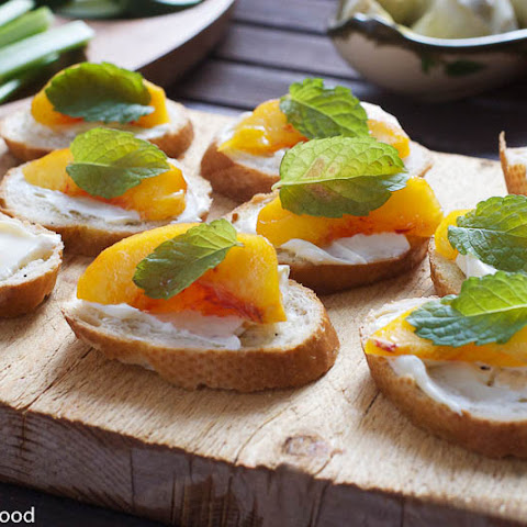 Peach & Mascarpone Crostini