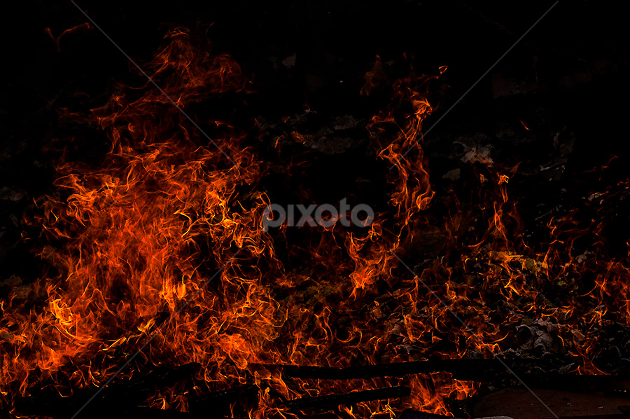 by Helio Santos - Abstract Fire & Fireworks