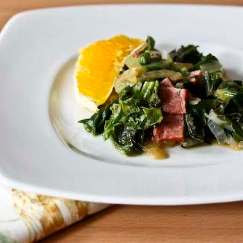 Greens with Ham, Orange and Mint