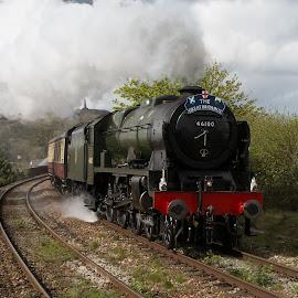 Steam by Brian Pierce - Transportation Trains ( great britain ix, royal scot, royal, redruth, train, scot, steam )